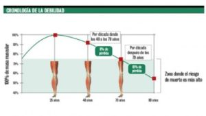 Evolución de la masa muscular a lo largo de la vida, en función de la edad. Dra. María Ariztia, geriatra de la Fundación Matía que participa en la Jornada El Envejecimiento Óseo: Prevención y Soluciones, que organiza el Foro Salud Sendagrup en Donostia-San Sebastián, Mayo 2018