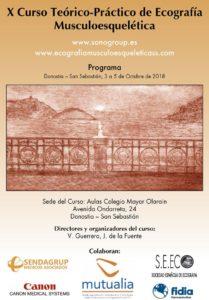 Curso de Ecografía Musculoesquelética organizado por el Dr. Javier De la Fuente del Centro Médico Sendagrup de Donostia - San Sebastián
